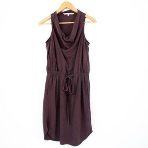 Rachel Roy Plum Burgundy Drawstring Crowl Dress